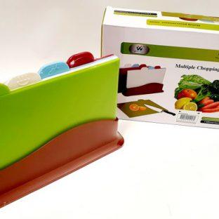 סט 4 קרשי חיתוך פלסטיק צבעוני