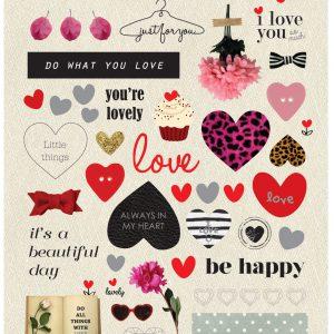 מדבקות LOVE ACTUALLY