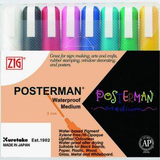 סט 8 טוש POSTERMAN - זיג
