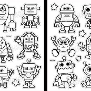 מדבקות חלון - רובוטים