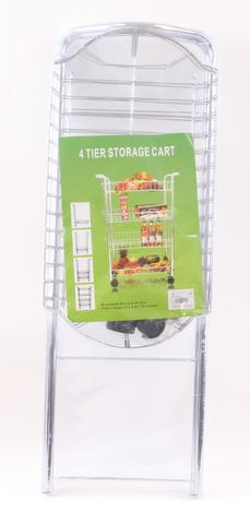 סלסלת ירקות 4 קומות על גלגלים