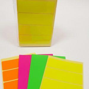 דפי מדבקות מלבניים מעורב צבעים - 3.5X9