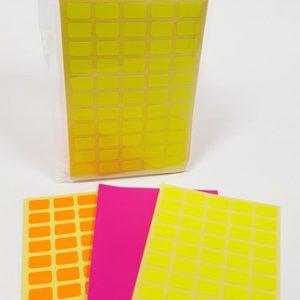 דפי מדבקות מלבניים מעורב צבעים - 1.5X1