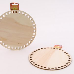 """לוח עץ עגול חורים - 19.50 ס""""מ"""