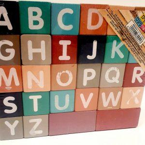 קוביות עץ צבעוניות ABC