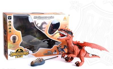 דינוזאור עם שלט
