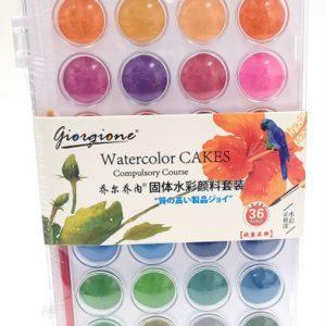 פלטת 36 צבעי מים