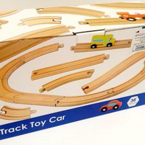 משחק מסלול מכוניות עץ