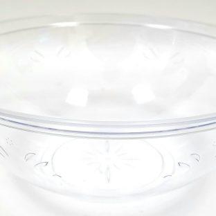 קערת סלט ענקית - דגם קריסטל שקופה