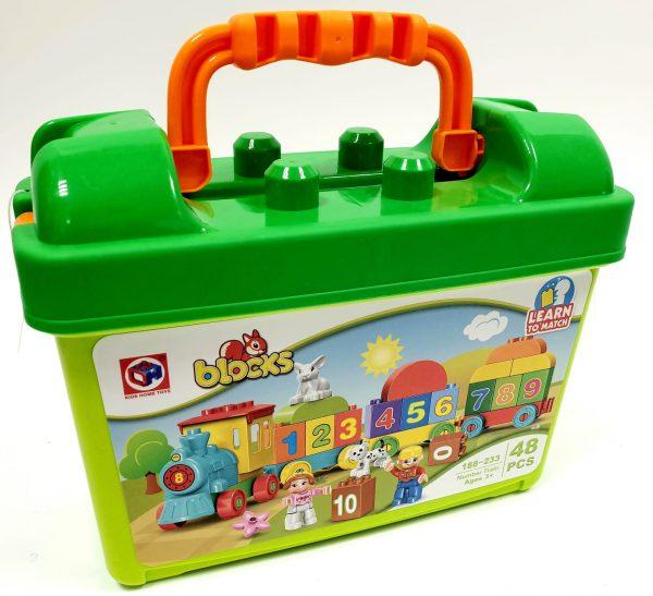 אבני משחק - רכבת מספרים במזוודה