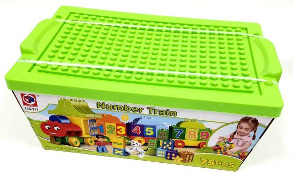 אבני משחק - רכבת מספרים בקופסאת הרכבה