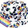 כובע שוליים לילדים - מיקי מאוס צבעי קשת לבן