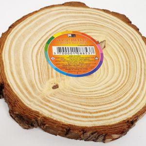 פרוסת עץ טבעי עגולה