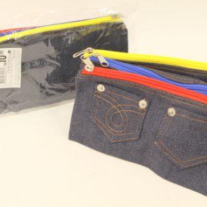 קלמר ג'ינס 3 תאים עם רוכסן צבעוני