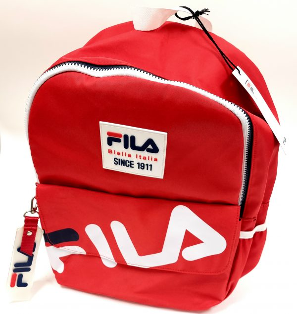 תיק בית ספר - FILA - אדום מבריק
