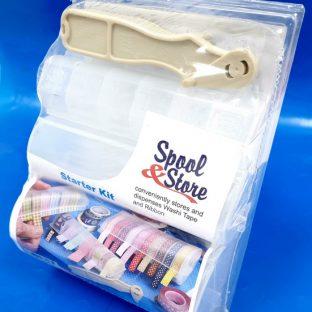 שלישיית קופסאות איחסון לוושי טייפ עם מתקן