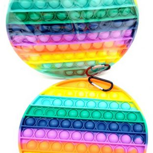 משחק משטח סיליקון מחזיק מפתחות עיגול