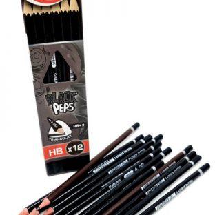 מארז עפרונות משולשים שחורים