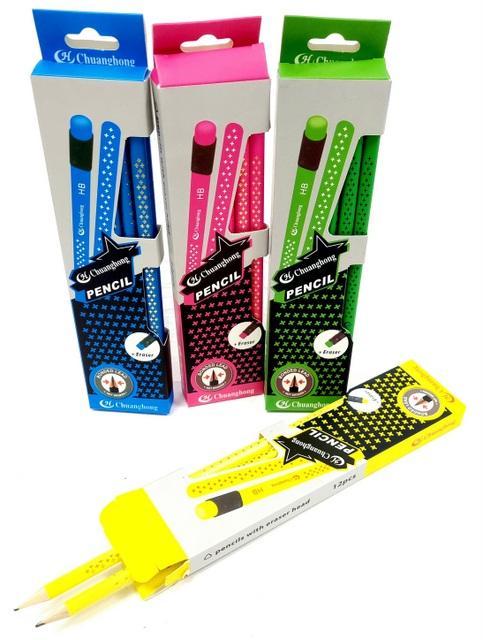 מארז עפרונות משולשים צבעוניים