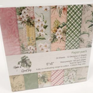 24 דפי עיצוב עלים פרחים ורוד ירוק