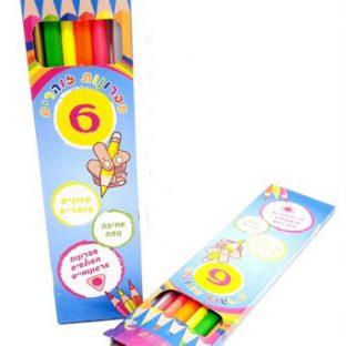 שישיית עפרונות זוהרים משולשים וארגונומיים
