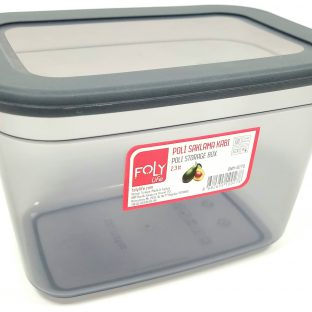 קופסת אחסון מלבנית 2.3L