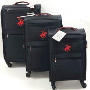 סט מזוודות בד
