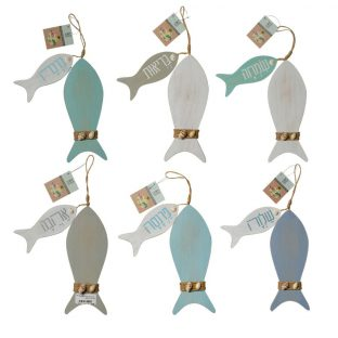 סט דגים דקורטיביים לתלייה