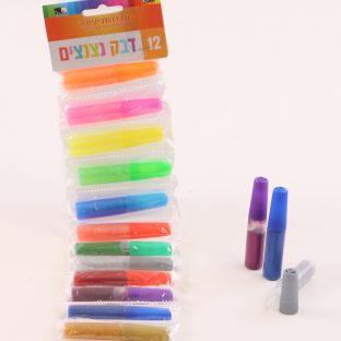 12 דבק נצנצים צבעוני